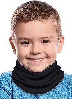 Kids Neck Warmer - Fleece Neck Gaiter Face Mask Cover -...
