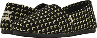 TOMS Womens Alpargata Black/Gold Geo Woven (Vegan) 10 ...