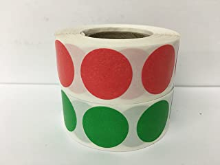 2 Rolls of 500 Labels each color 3/4