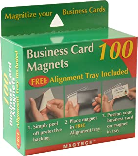 Magtech Business Card Magnets with Alignment Tray, 100 Count (50100)