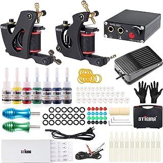 Stigma Professional Complete Tattoo Machine Set, Tattoo Coil Machines with Needles and Power Supply, Tattoo Gun Kit for Li...