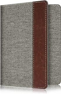 Fintie Passport Holder Travel Wallet RFID Blocking Fabric Card Case Cover, Denim Grey
