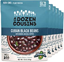 A Dozen Cousins Cuban Black Beans - Ready To Eat Beans, Vegan Food, Rich in Plant Protein, 10 Ounce (Pack of 6)
