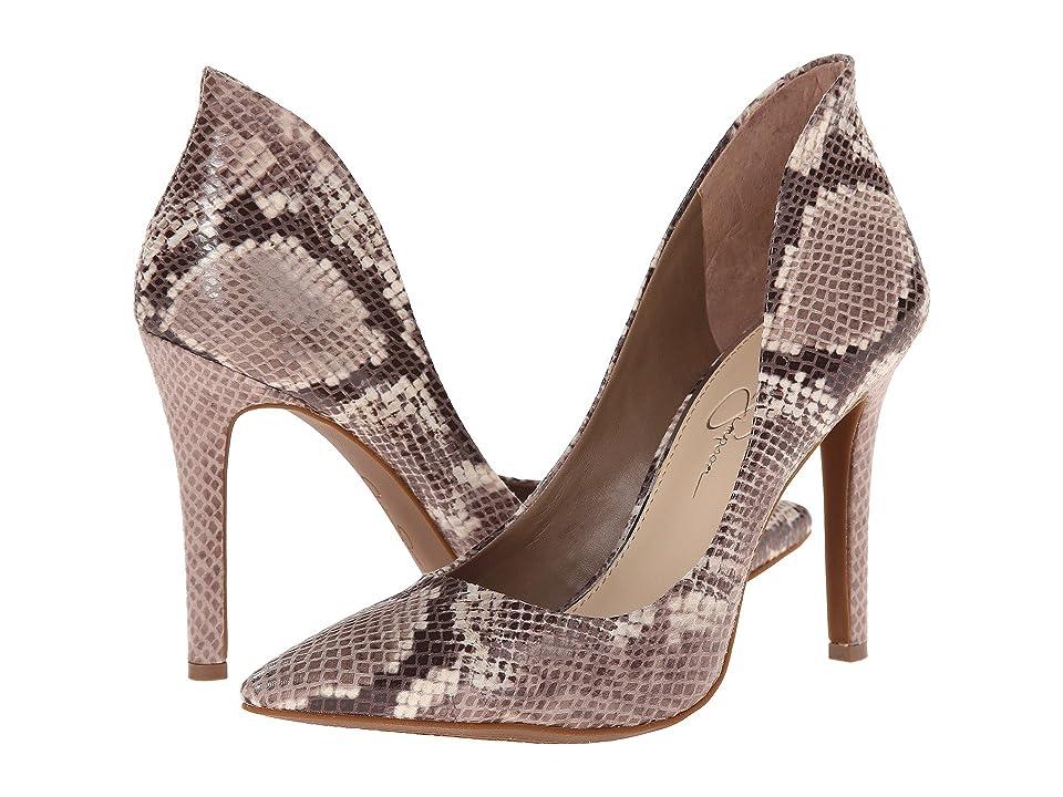 Jessica Simpson Cambredge (Taupe Combo Mojito Snake Print) High Heels