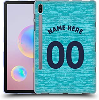 Custom Customized Personalized Newcastle United FC NUFC Third Kit 2018/19 Crest Soft Gel Case Compatible for Samsung Galaxy Tab S6 (2019)