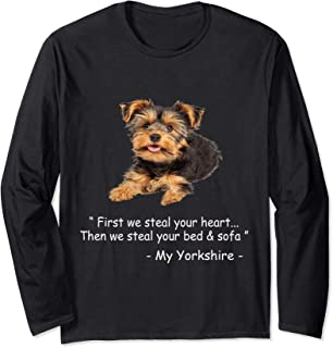 Quote Yorkie cute - Dog image funny gift men women girls Long Sleeve T-Shirt