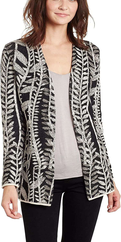 Invisible World Women's Baby Alpaca Sweater Long Cardigan Open Jacket