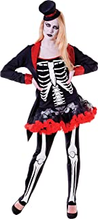 Adult Ladies Halloween Skeleton Fancy Dress Party Mrs Bone Jangles Costume