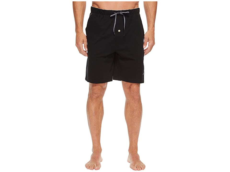 Nautica Knit Sleep Shorts (True Black) Men