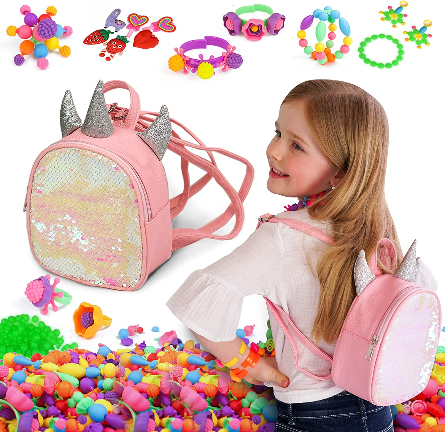 Axel Purchase Adventures Pop Beads Max 78% OFF Jewelery Making Colorf Kits for Girls