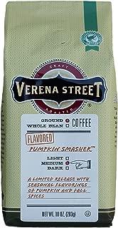 Verena Street 10 Ounce Flavored Ground Coffee, Pumpkin Smasher, Fall Seasonal Coffee, Rainforest Alliance Certified Arabica Coffee