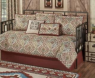 Touch of Class Southwest Daybed Bedding 7 Piece Set Multi Bandera Warm Southwest Decor Medallions Cinnabar