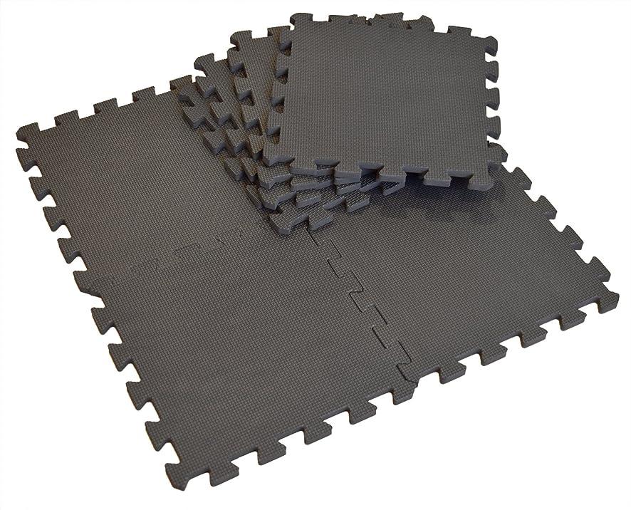 炭水化物スチュアート島掻くユノックス 極厚約14mm ジョイントマット 8枚セット ブラック 約30×30cm 14-016
