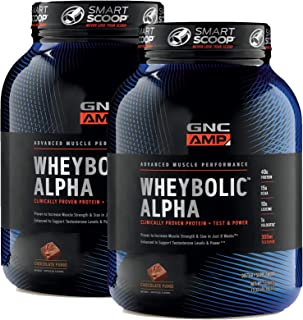 Sponsored Ad - GNC AMP Wheybolic Alpha Whey Protein Powder - Chocolate Fudge, Twin Pack, 22 Servings Each, Contains 40g Pr...