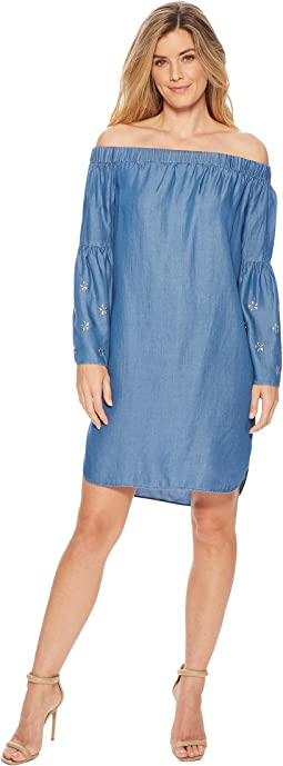 MICHAEL Michael Kors Off Shoulder Bell Sleeve Dress