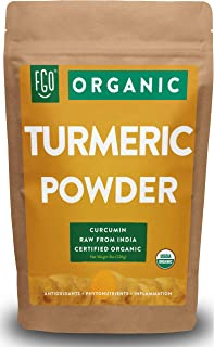 Organic Turmeric Root Powder w/ Curcumin | Lab Tested for Purity | 100% Raw from India | 8oz/226g Resealable Kraft Bag | by Feel Good Organics