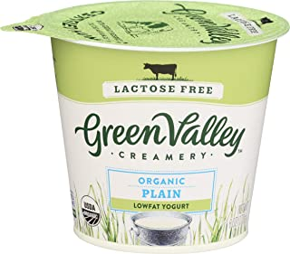 Green Valley Creamery, Yogurt Lactose Free Plain Lowfat Organic, 6 Ounce