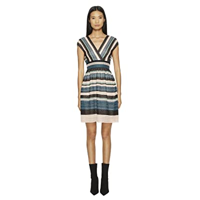 M Missoni Lurex Lace Ribbon Dress (Teal) Women