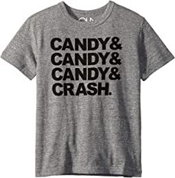 Soft Tri-Blend Candy Candy Candy Crash Crew Neck Short Sleeve Tee (Little Kids/Big Kids)