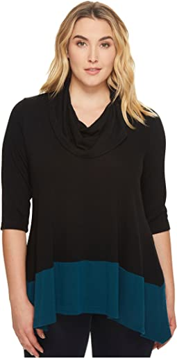 Karen Kane Plus - Plus Size Color Block Cowl Neck