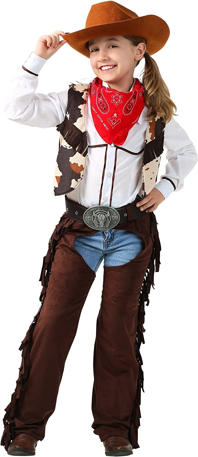 Kid's Ranking TOP1 Cowgirl Chaps Costume Girl's Clearance SALE Limited time Outfit