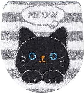 明邦 ねこ の トイレふたカバー トイレカバー 人気の かわいい 黒ネコ 37×H43cm Y397