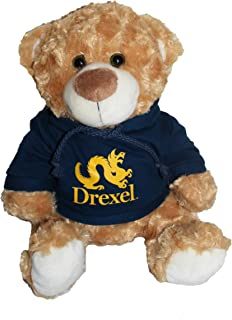 Mascot Factory Drexel University Dragons Teddy Bear with Blue Hoodie Sweatshirt 9 Inches Tall, Brown