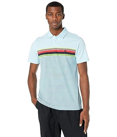 Original Penguin Engineered Chest Stripe Polo (Cool Blue) Men