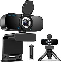 [Latest 2021] Webcam HD 1080p Web Camera, USB PC Computer Webcam with Microphone, Laptop Desktop Full HD Camera Video Webc...