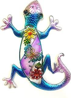 Bejeweled Display® Purple Gecko w/Glass Wall Art Plaque & Home Decor