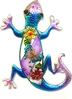 Bejeweled Display® Purple Gecko w/ Glass Wall Art Plaque & Home Decor