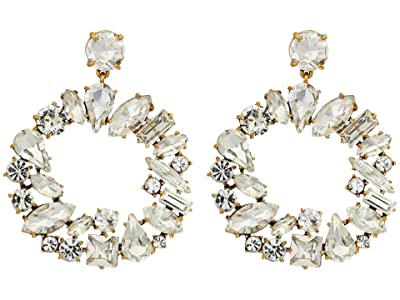 J.Crew Multi Facet Glitz Earrings (Crystal) Earring