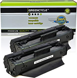 GREENCYCLE High-Yield C4092A 92A Toner Cartridge Replacement Compatible for HP Laserjet 1100 1100a 1100ase 1100axi 1100se 1100xi 3200 3200m 3200se, Page Yield Up to 2500 Pages (Black, 2 Pack)