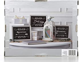 Hosley Wedding Signage 11.5 Inch Long. 3 Pack of Directional Event Signs . Wedding Reception and Cards and Gifts Signs. Ideal for Party Weddings Special Occasions O9