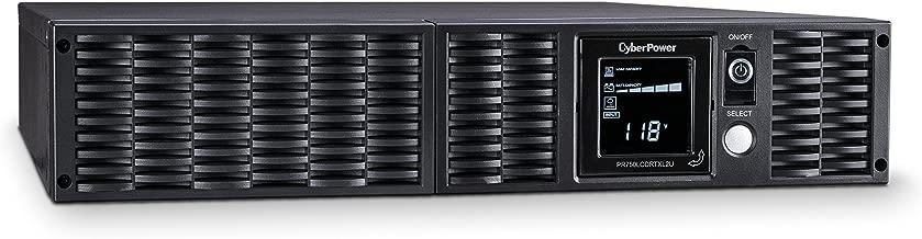 CyberPower PR750LCDRTXL2U Smart App Sinewave UPS System, 750VA/675W, 8 Outlets, AVR, 2U Rack/Tower
