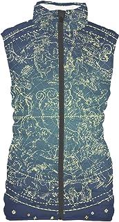 Rainbow Rules Stars Constellations Map Womens Puffer Vest Bodywarmer Gilet