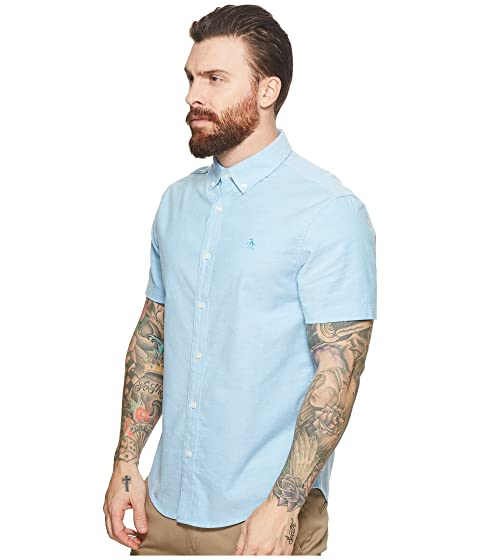 Oxford Short Sleeve Shirt Penguin Original t78w00