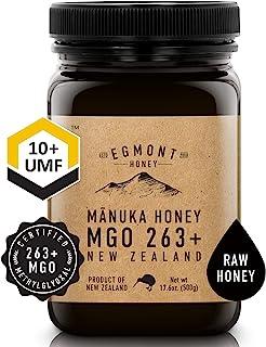 Egmont Honey Manuka Honey - MGO 263+ UMF 10+ - 17.6oz Original from New Zealand (500g)
