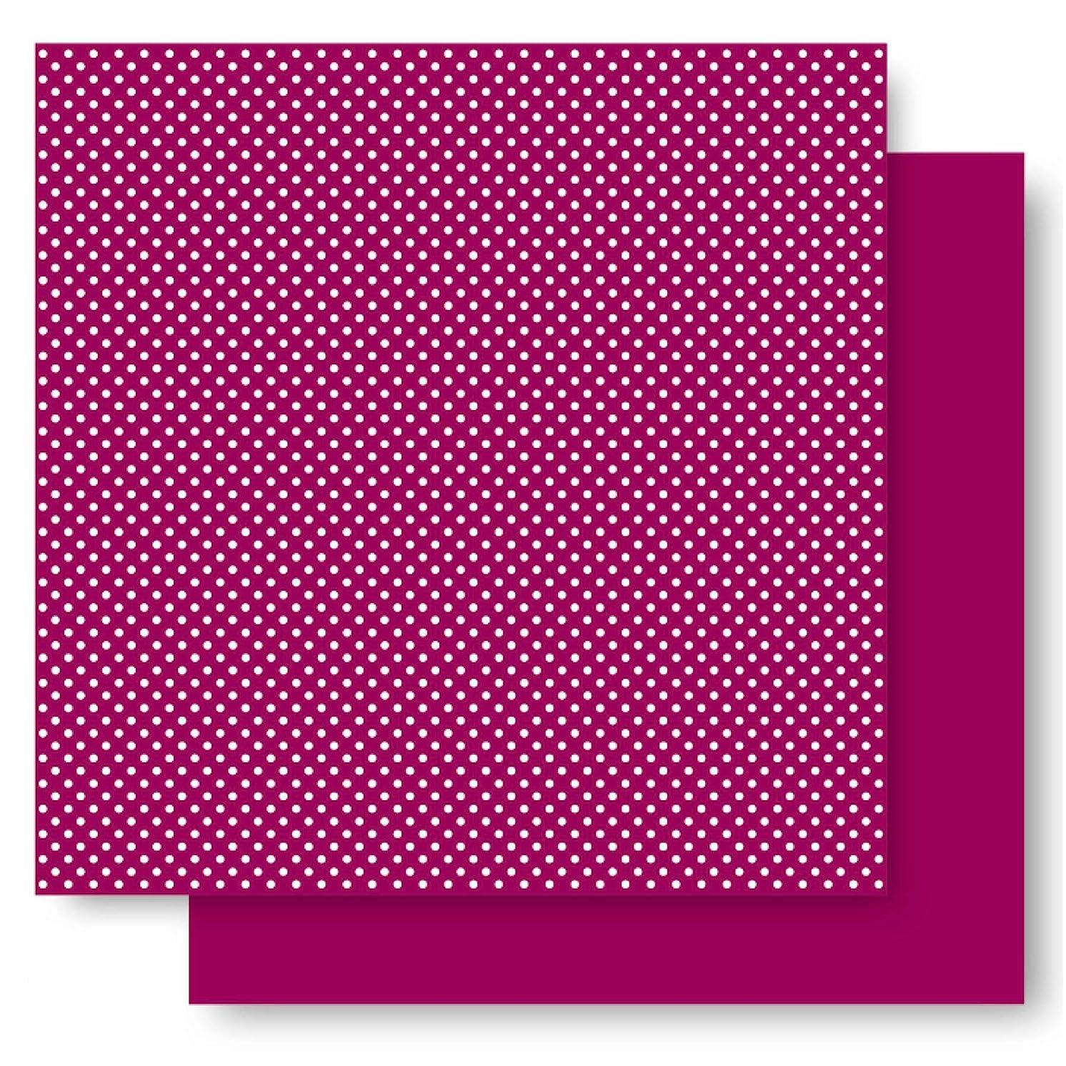 Best Creation 12-Inch by 12-Inch Basic Glitter Paper, Plum Dot