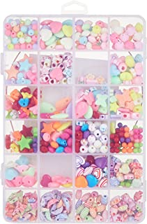 ABS Plastic DIY Craft Colorful Acrylic Bead Kit for Kids (20x15x3cm)