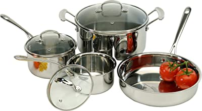 ExcelSteel Tri-Ply Cookware Set, 14 x 10 x 7.2