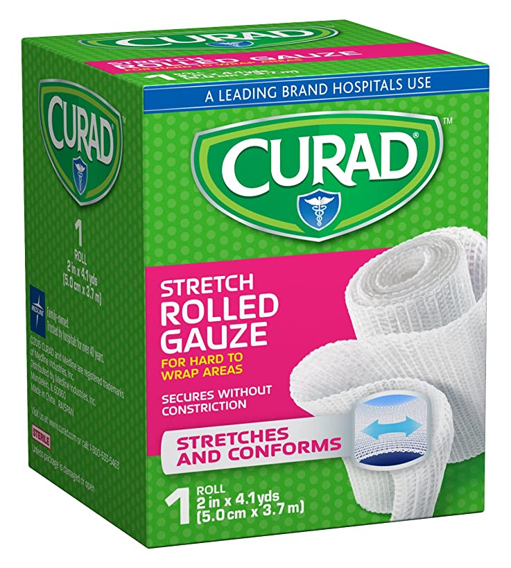 Curad Rolled Gauze, 2 Inches X 4.1 Yards (Pack of 24)