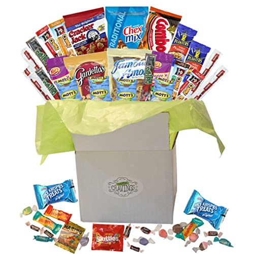 da819dd9eb1f Snack Gift Basket Care Package with Sweet and Salty Snacks 26 Count Plus  Bonus Candy