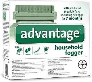 Flea and Tick Household Fogger, three 2 oz canisters, Advantage