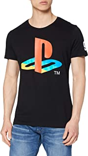 Meroncourt Sony Playstation Classic Logo and Colours Camiseta para Hombre