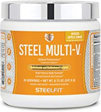 SteelFit Steel Multi-V - Multivitamin and Multimineral Powder - High Potency Daily Formula - Antioxidants - Metabolism Sup...