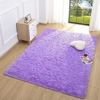 Sinaliy Ultra Soft Shaggy Rugs ,Fluffy Carpet for Girls...