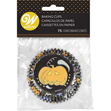 Jack-o-Lantern Spooky Halloween Cupcake Liners