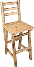 Rush Creek Creations Rustic Bar/Pub Chair - 47