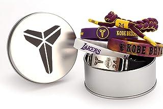 Petopian Basketball Kobe Wristbands Black Mamba Kobe Bracelet Signature Sport Silicone Adjustable Bracelet Memory Gift 5 Pcs